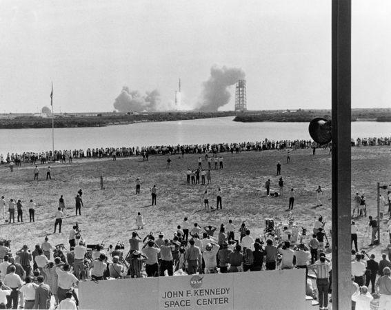 Lançamento da Columbia, a nave da missão Apollo 11. (Crédito: Nasa)