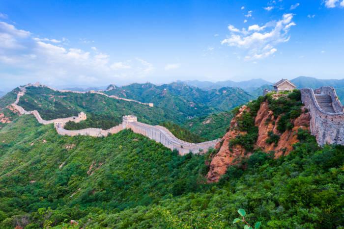 A Grande Muralha da China pode ser vista da Lua.