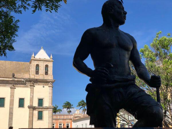 Zumbi dos Palmares (1655-1695) foi um dos líderes do Quilombo dos Palmares e coordenou a resistência do quilombo até a sua destruição, em 1694.*