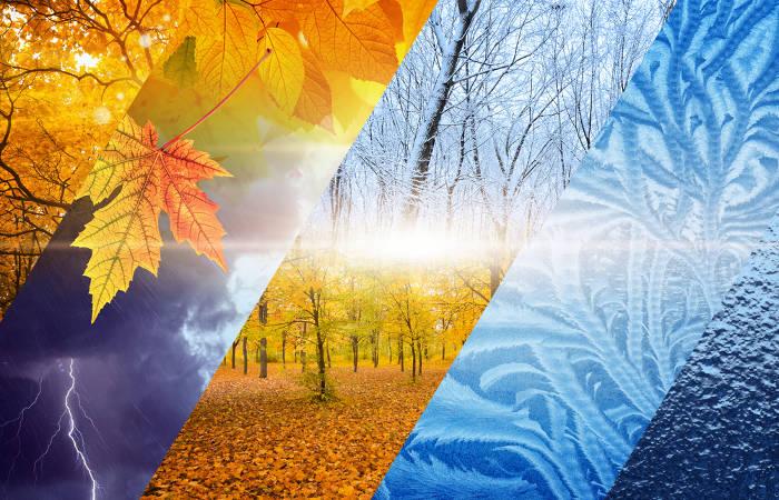 As estações são observadas ao longo de vários anos, resultando em diferentes climas nas diversas regiões do planeta.