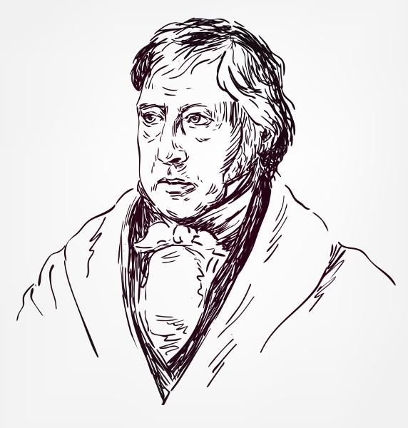 Hegel foi um grande influenciador do pensamento de Marx com a sua teoria dialética. [2]