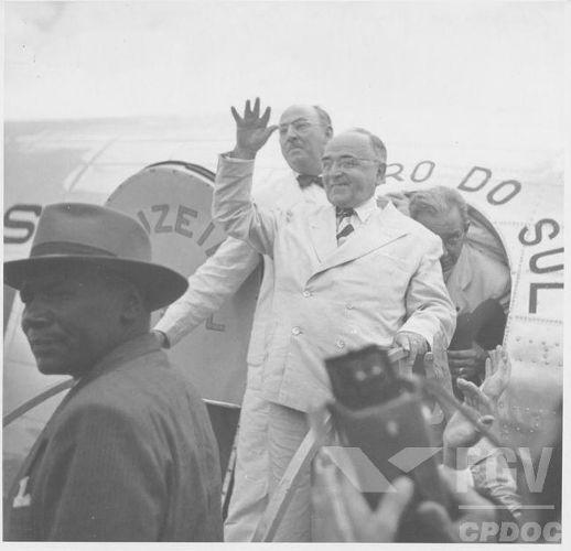 Getúlio Vargas durante a campanha para eleição presidencial de 1950. [1]