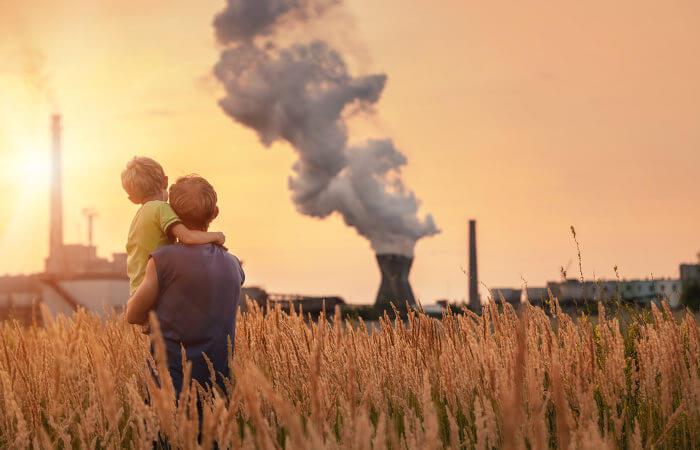 O seres humanos são grandes responsáveis pelo aumento de gases de efeito estufa na atmosfera.