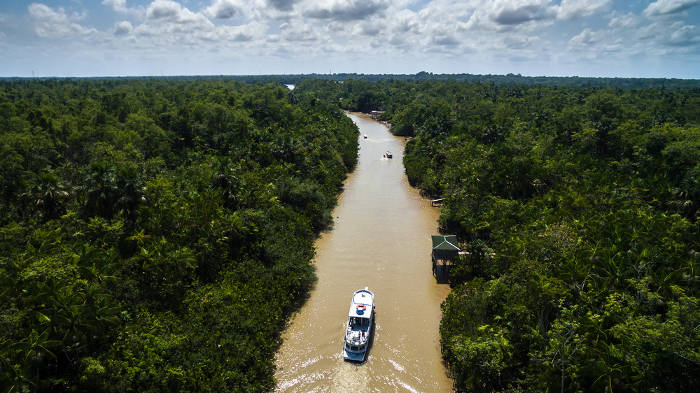 O Rio Amazonas é o maior em extensão do Brasil.