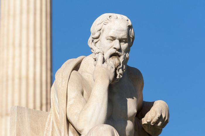 Sócrates relacionou a felicidade com as ações moderadas e a Justiça.