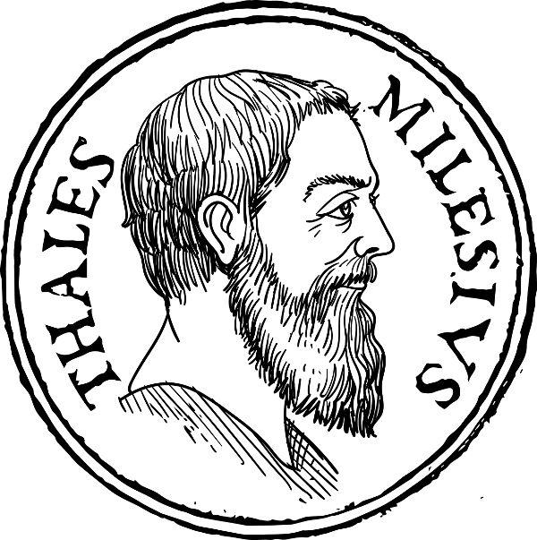 Tales de Mileto é considerado o primeiro filósofo. [1]