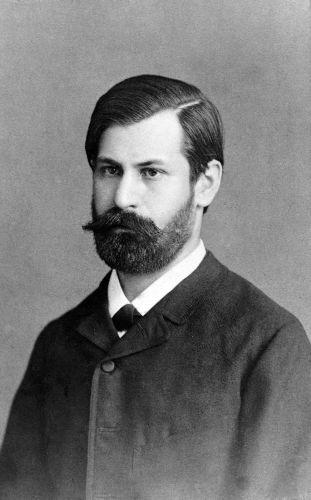 Freud durante o período em que trabalhava no Hospital Geral de Viena.