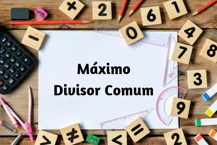 O máximo divisor comum é o maior divisor entre dois números.