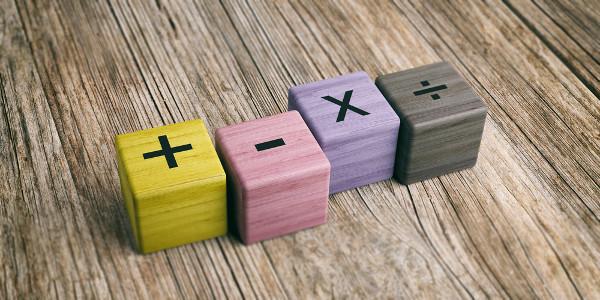 As definições de múltiplos e divisores são decorrentes das quatro operações matemáticas básicas.