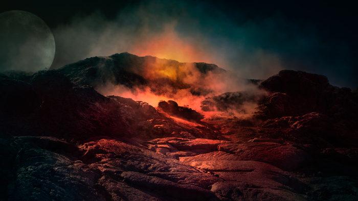A Terra primitiva apresentava inicialmente uma superfície extremamente quente.