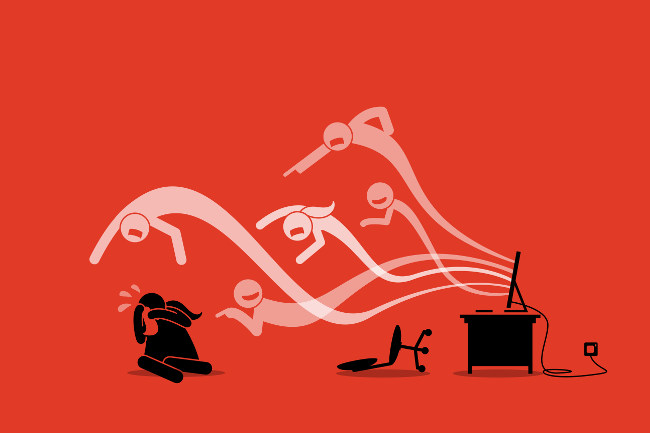 O cyberbullying é a prática do bullying em ambientes virtuais.