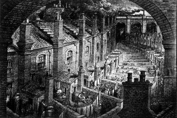 Becos de Londres, obra de Gustave Dore, ilustrador francês.