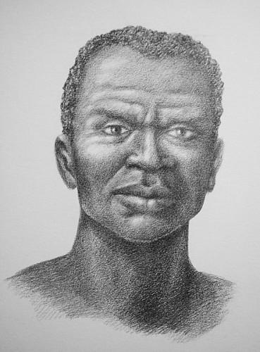 Zumbi dos Palmares, o grande mártir da luta negra brasileira. Ilustração feita por Pedro Celso Cruz de Souza. [1]
