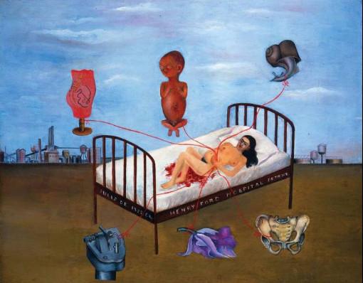 No quadro Hospital Henry Ford, Frida expõe a sua dor em perder seu segundo filho. [3]