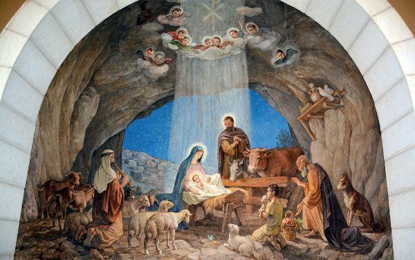 Acredita-se que a celebração do nascimento de Jesus tenha surgido por volta dos séculos III e IV d.C.[1]
