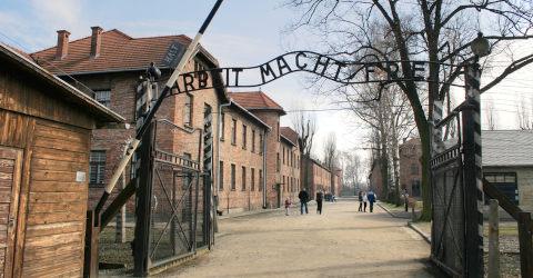 Entrada do campo de concentração
