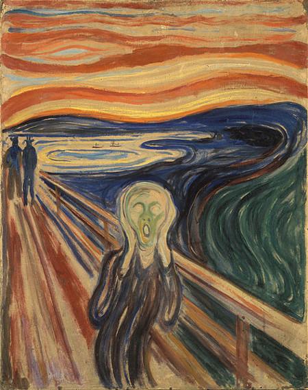 """""""O grito"""", de Edvard Munch, foi uma das obras precursoras das vanguardas europeias, trazendo a ruptura com as artes tradicionais."""