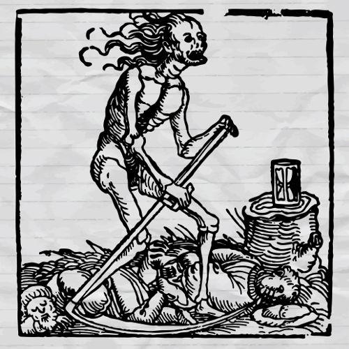 O surto de peste bubônica, conhecido como Peste Negra, foi responsável pela morte de 1/3 da população europeia.