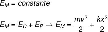 Conservação da energia mecânica no sistema massa-mola