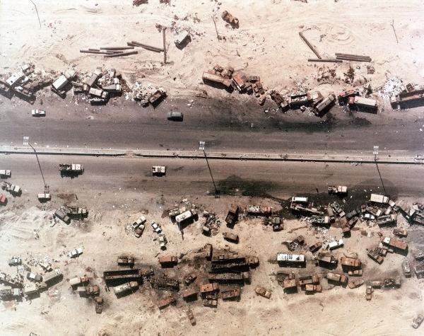 O envolvimento norte-americano fez o exército iraquiano abandonar o Kuwait em 1991.