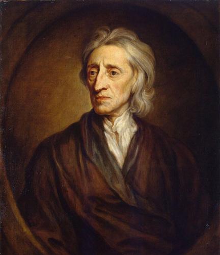 """John Locke, filósofo inglês considerado um dos """"pais"""" do liberalismo. [1]"""