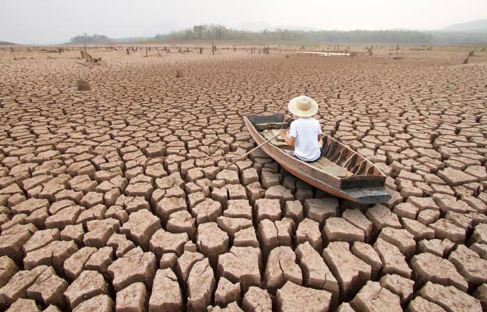 A seca extrema é um dos problemas que podem ser causados pelas mudanças climáticas.