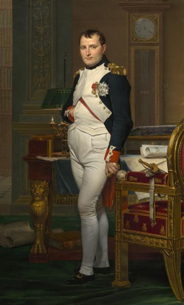 Napoleão Bonaparte foi um grande líder político francês e conquistou um vasto território.
