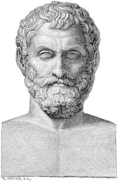 Tales de Mileto, considerado o primeiro filósofo do Ocidente.