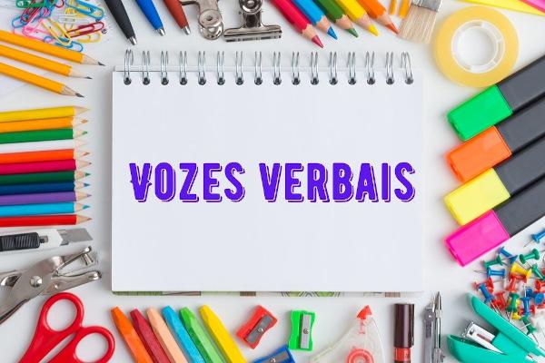 As vozes verbais indicam a relação entre o sujeito e a ação expressa pelo verbo.