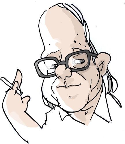 Caricatura de Vinicius de Moraes