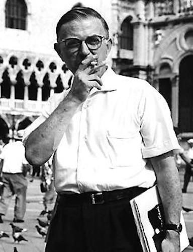 Jean-Paul Sartre desenvolveu uma teoria existencialista com influências fenomenológicas.
