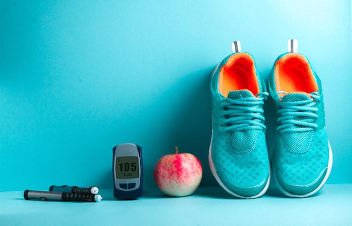 Os níveis de glicose no sangue podem ser, muitas vezes, controlados com exercícios e alimentação correta.