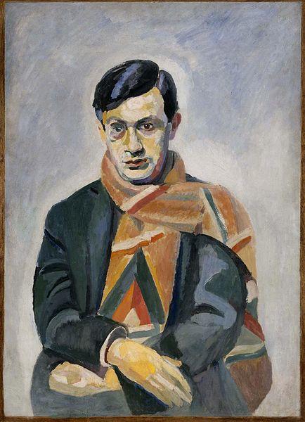 Retrato de Tristan Tzara, pintado por Robert Delaunay (1885-1941).