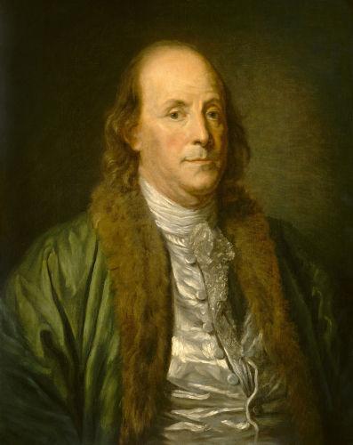 Benjamin Franklin fez sua riqueza como tipógrafo, editor e jornalista, mas ficou conhecido por sua contribuição à ciência no estudo da eletricidade.