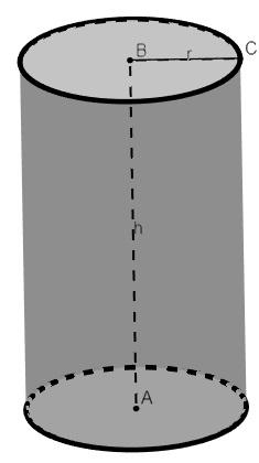 Cilindro de raio r e altura h