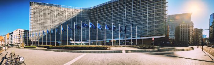 Sede da União Europeia, na cidade de Bruxelas, Bélgica.
