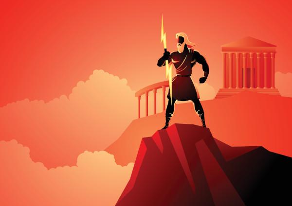 Zeus, o deus do Olimpo.