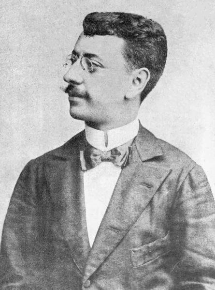 O escritor Olavo Bilac, provavelmente em 1885.