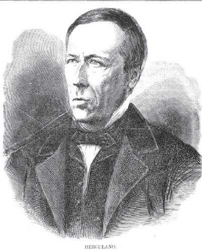 Alexandre Herculano, em 1869. Desenho de Tomás Carlos Capuz (1834-1899).