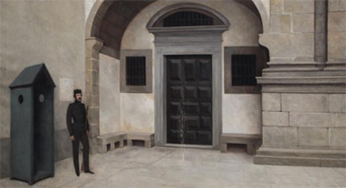 Almeida Garrett, durante a Guerra Civil Portuguesa — obra de Joaquim Vitorino Ribeiro (1849-1928).