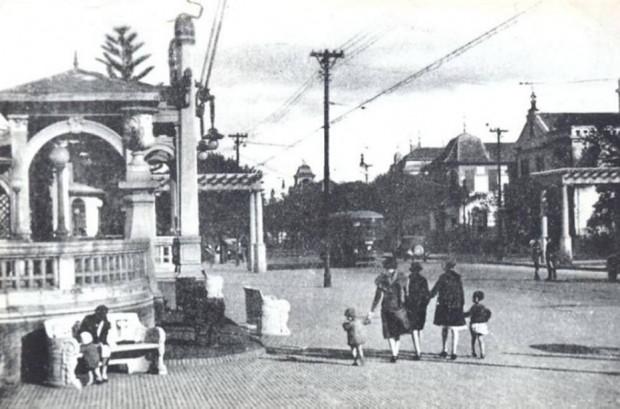 Avenida Paulista, no início do século XX.