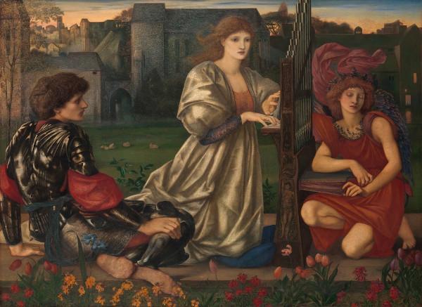 A canção de amor (1868-1877), de Edward Burne-Jones, pintor inglês que à época do Parnasianismo retomou na pintura os temas de influência clássica.
