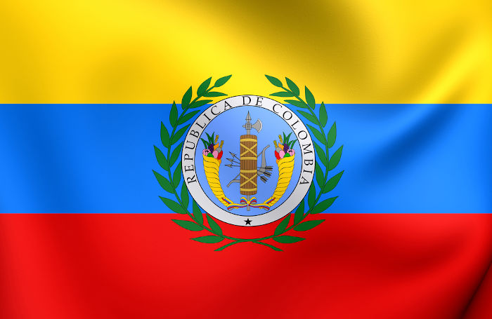 Bolívar defendeu a unificação dos países sul-americanos e esteve à frente da Grã-Colômbia, de 1819 a 1830.