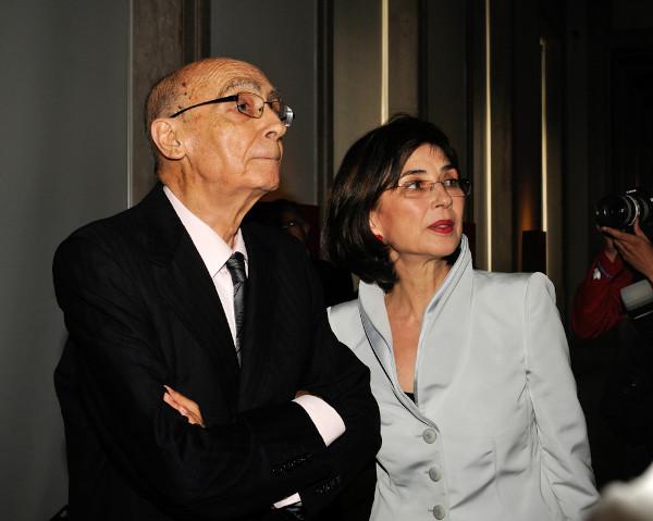 José Saramago e Pilar del Río, sua esposa. [1]