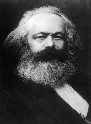 "Karl Marx, autor de ""A ideologia alemã""."