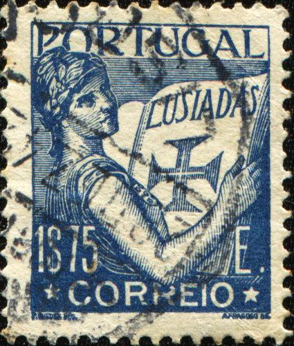 Selo português em homenagem à obra Os Lusíadas.