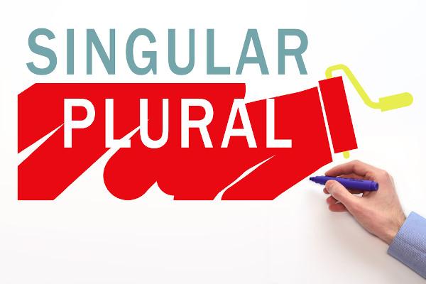 Os substantivos contáveis em inglês podem aparecer tanto no singular quanto no plural.