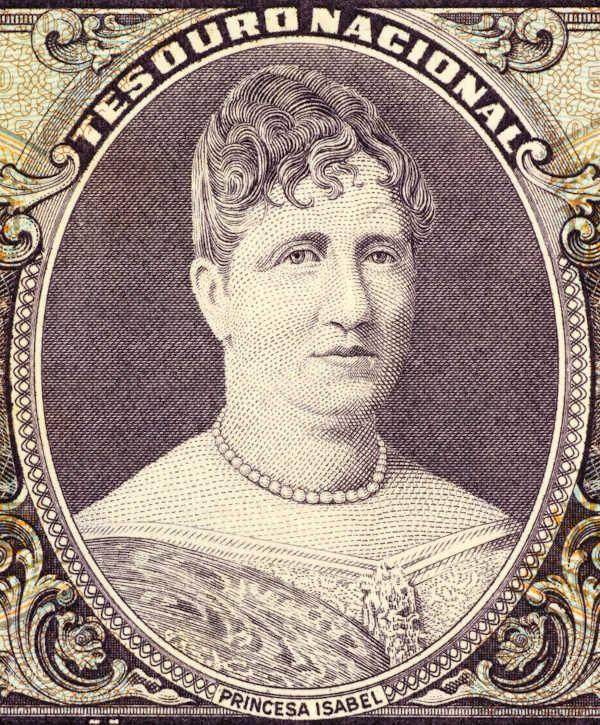 Princesa Isabel (1846-1921) era filha de Dom Pedro II e assinou a Lei Áurea em 13 de maio de 1888. [1]
