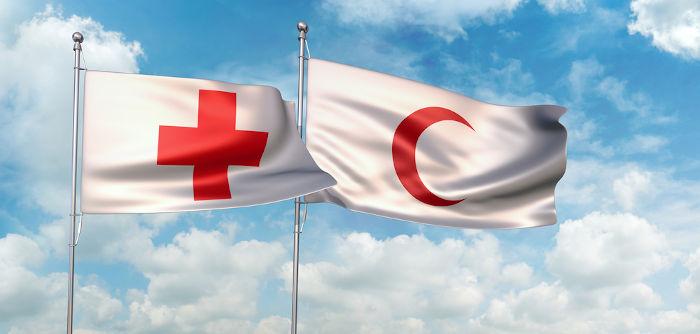 A cruz vermelha e o crescente vermelho são os dois principais símbolos da Cruz Vermelha.