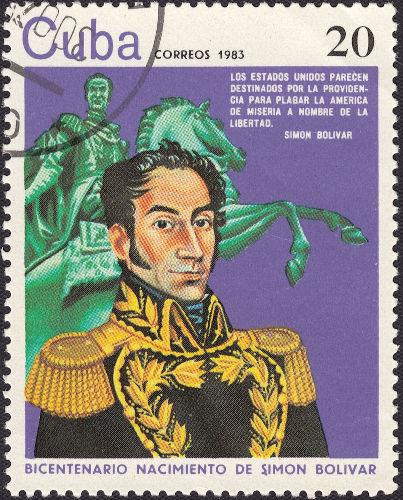 De origem aristocrática, Bolívar aderiu a ideais revolucionários e lutou pela independência dos países da América do Sul.[1]